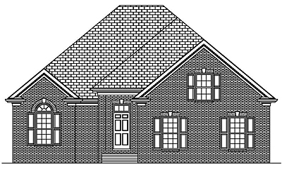 Traditional Style One Story Home Plan 19-03