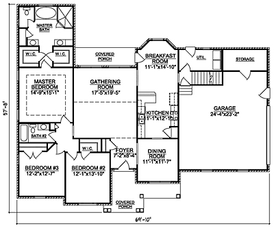 Small Traditional 25-01 One Story Floor Plan