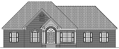 Traditional One Story House Plan 25-01