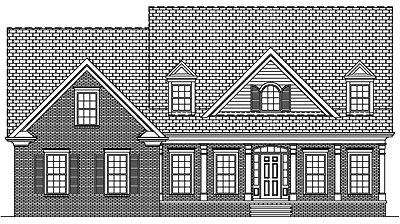 Two Story Colonial Home Plan with Basement 25-02