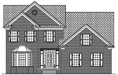Traditional Two Story House Plan 26-01