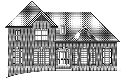 Traditional Style Two Story Home Plan 30-02