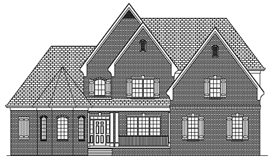French Country Two Story Home Plan 35-02A