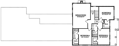 Narrow Home Plan 35-03A Second Floor Plan