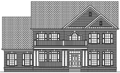 Two Story Colonial Narrow Lot House Plan 35-04