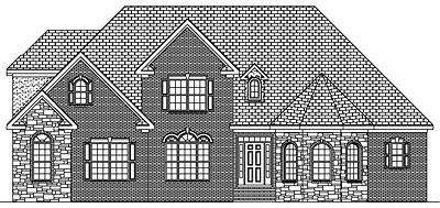 Traditional House Plan 40-02 Front
