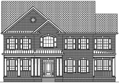 Two Story Colonial Style House Plan 40-04A