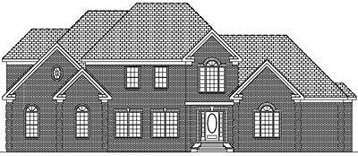 Traditional Two Story House Plan 41-02