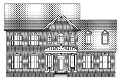 Narrow House Plan 41-03B Front