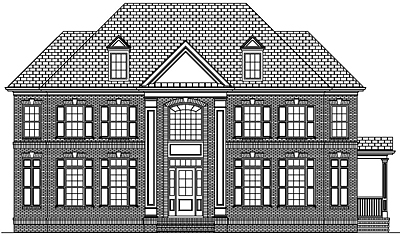 Two Story Colonial House Plan 43-02