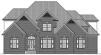 Traditional Two Story House Plan 44-02