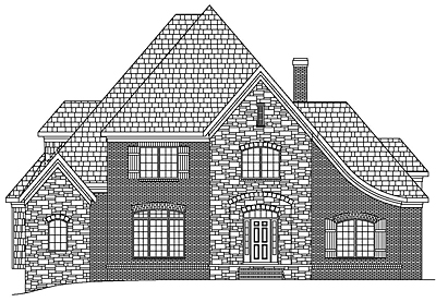 French Country House Plan with Basement 54-01