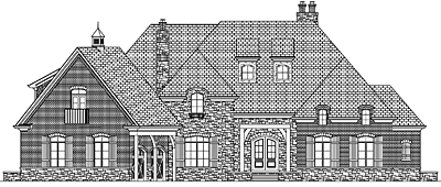Unique French Country Style House Plan 57-01