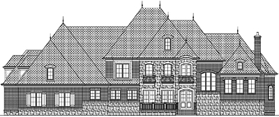 Unique French Country Style Home Plan 67-01