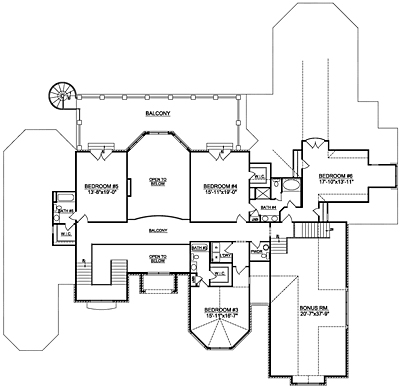 LuxuryHome Plan 84-01 Second Floor Plan