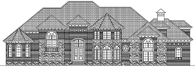 Luxury House Plan 84-01 Front