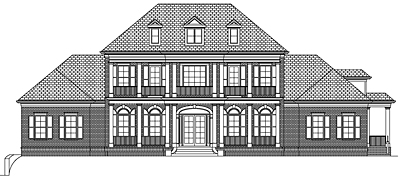 Luxury Southern Two Story House Plan With Basement 86-01A