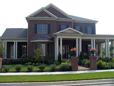 Two Story Colonial Home Plan 42-01